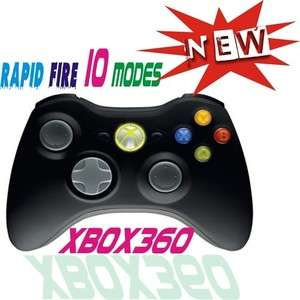 Xbox360 Black Wireless Rapid Fire 8Mode modded stealth Controller