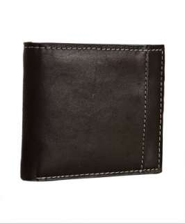 Ben Sherman black leather Union Flag bi fold wallet   up to