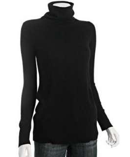 CeCe black cashmere turtleneck sweater tunic