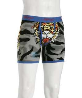 Ed Hardy turquoise Tiger Camo boxer briefs