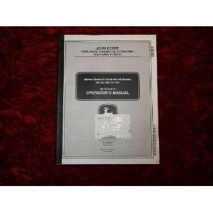 John Deere Mower Deck 60/62/72 OEM OEM Owners Manual John Deere