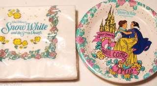 SNOW WHITE Disney Princess Party SET PLATES NAPKINS HTF
