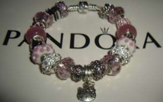 Authentic Pandora Hello Kitty Charm Bracelet
