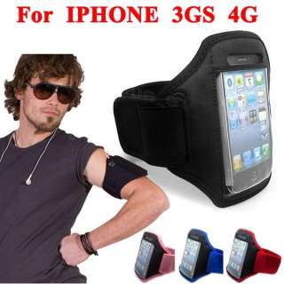 Color Portable Waterproof Sport Armband Case Holder For IPHONE 4S 4