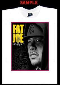 FAT JOE CUSTOM T SHIRT TEE rap hip hop terror squad 200