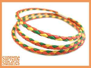 Reggae Marley Rasta Braided Woven Leather Bracelet 310