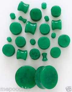 Dark Green Jade Solid Plugs