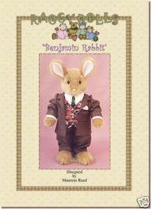Primitive/Homespun RAG DOLL Rabbit SEWING/CRAFT PATTERN