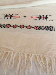 Vintage Hand Woven Southwestern Wool Table Runner Scarf