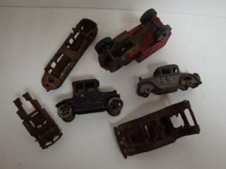 Lot of ARCADE Cast Iron Toy Cars Trucks Hubley Parts etc. Old Toys
