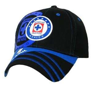 SOCCER MEXICO FMF OFFICIAL CRUZ AZUL HAT CAP BLUE BLACK