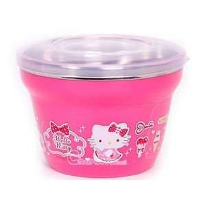Hello Kitty Strawberry Ice Cream Stainless Steel Insulation Bowl