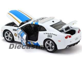 MAISTO 118 2010 CHEVY CAMARO SS RS DIECAST POLICE CAR BRAND NEW WHITE