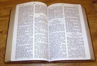 HOLY BIBLE KJV Version Personal Size NIB Large Print   Two Tone Brown