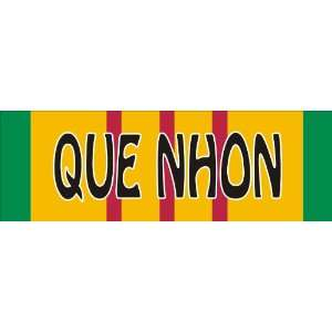 Que Nhon Vietnam Service Ribbon Decal Sticker 9